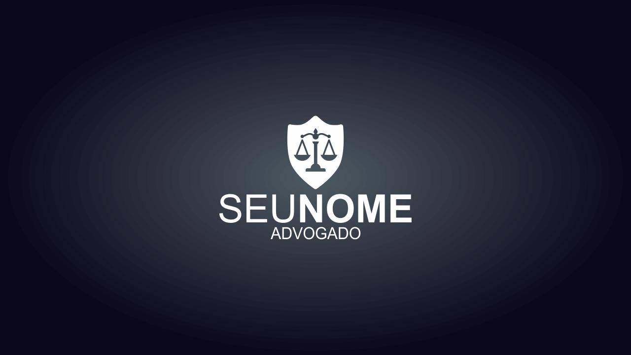 Logo advocacia com o símbolo do Direito no centro, é objetivo e representar o seu serviço de uma forma muito profissional. Esse logo de advocacia é vetor!