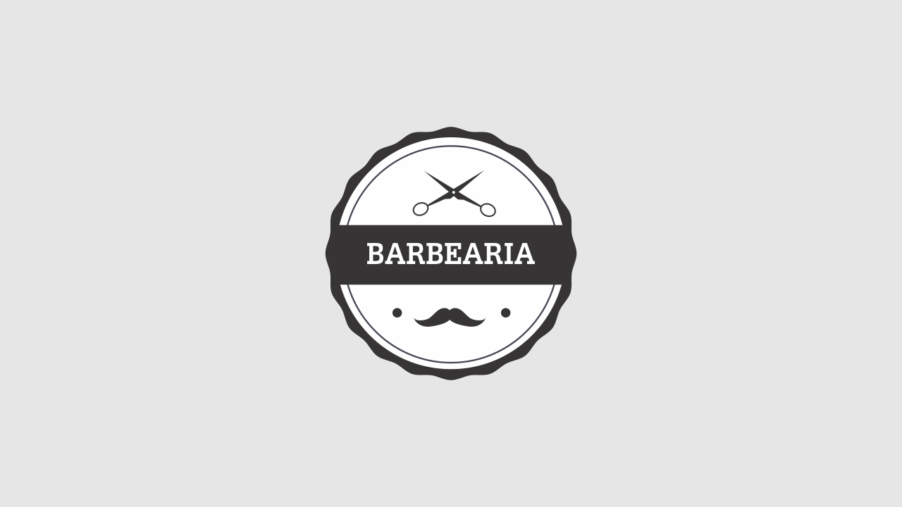 Esse logo barbearia tem um design bonito e é vetor, editável através do Corel Draw.