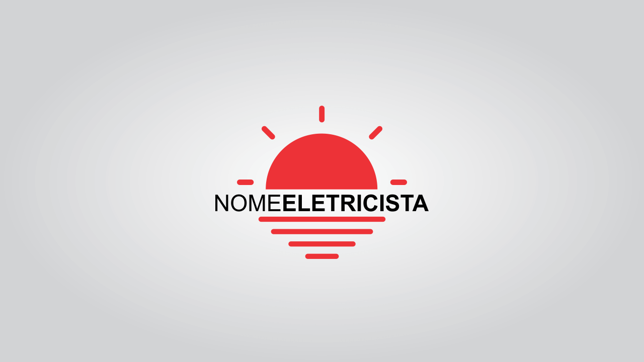 Esse logo de eletricista é bem intuitivo para que a vê. Ela conta com uma lâmpada, ou seja, sempre que alguém ver essa marca, vai relacionar a um serviço de eletricista.