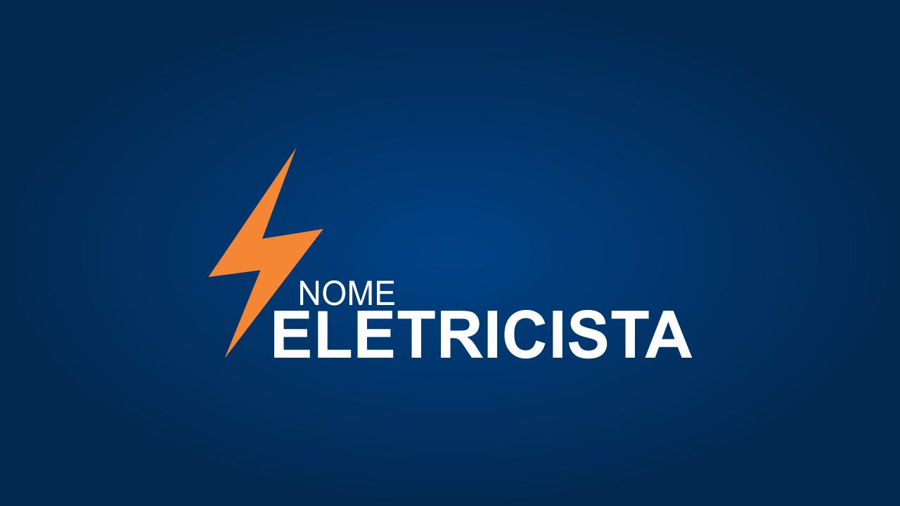 Use esse logo eletricista vetor em seus materiais de divulgação (cartão de visita, panfleto e fachada). O logo está pronto e você não precisa contratar um designer para criar.