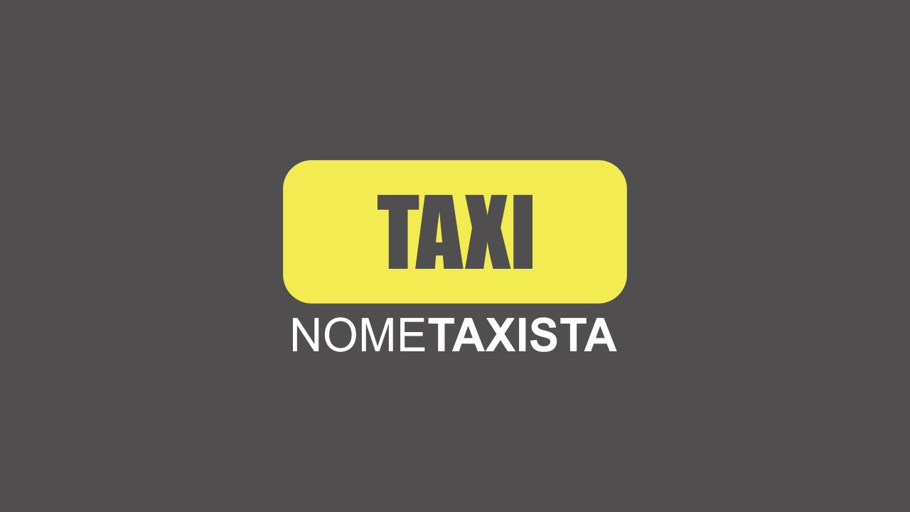 Logo de táxi vetor para você usar nos cartões de visita de taxista. O logo aqui é totalmente editável!