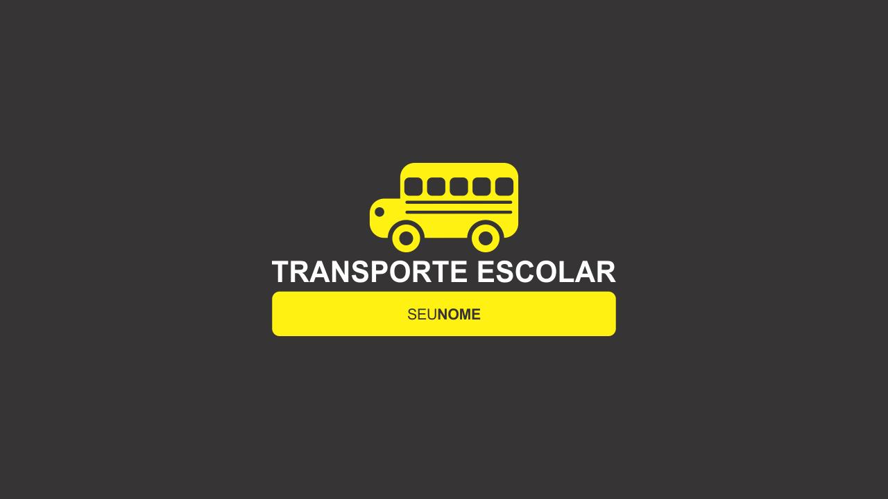 Esse logo de transporte escolar é vetor, editável, então, use-o agora mesmo!
