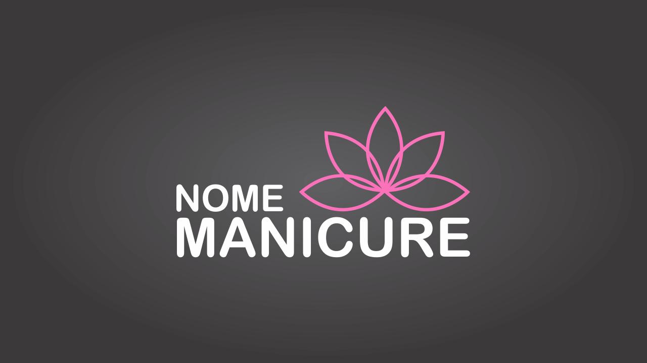 Essa logomarca de manicure vetor, com uma flor, representa todas as mulheres. Invista nessa marca e obtenha ainda mais sucesso no mercado da beleza.