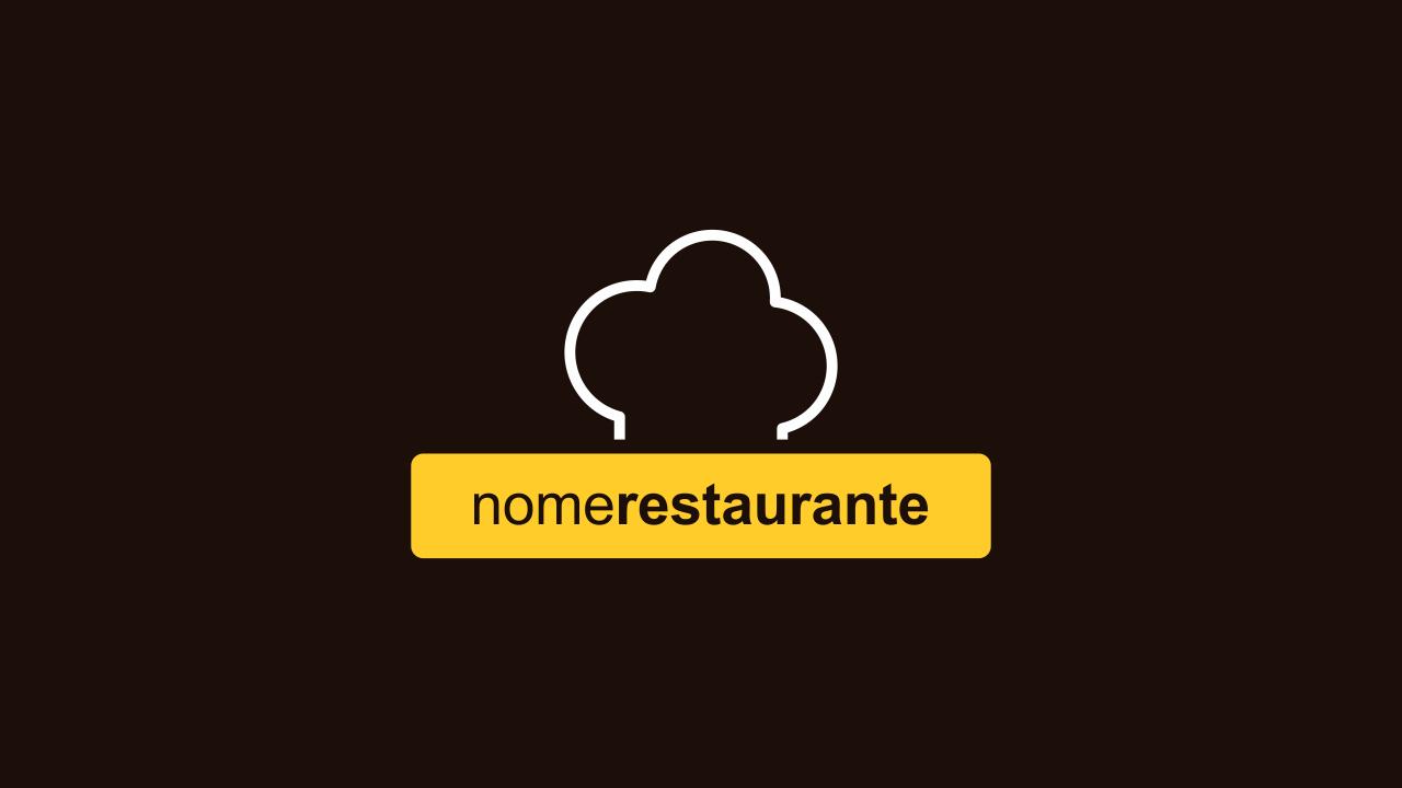 Logomarca restaurante é totalmente editável através do Corel Draw, pois ela é vetor!