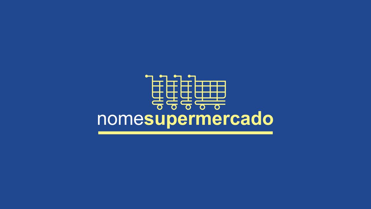 Logomarca supermercado vetor, totalmente editável e bonita. Boa escolha!