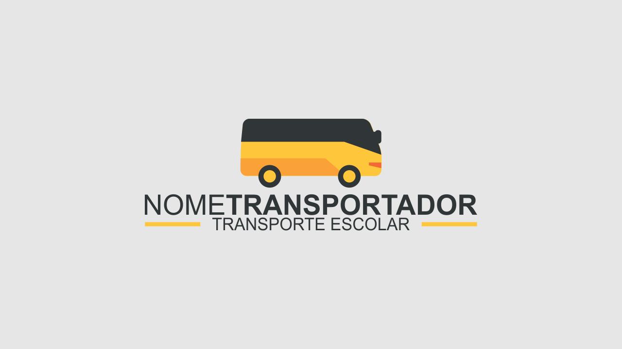 Essa logomarca de transporte escolar tem o poder de lotar o automóvel que você usa no trabalho. Ela é vetor!