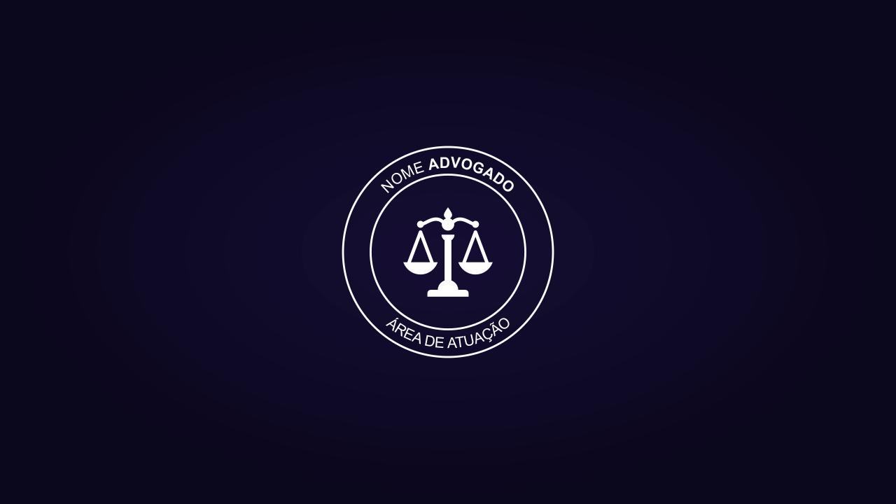 Um logotipo advogado simples, porém muito objetivo e direto ao ponto: apresentar seus serviços de advogado de uma forma profissional!