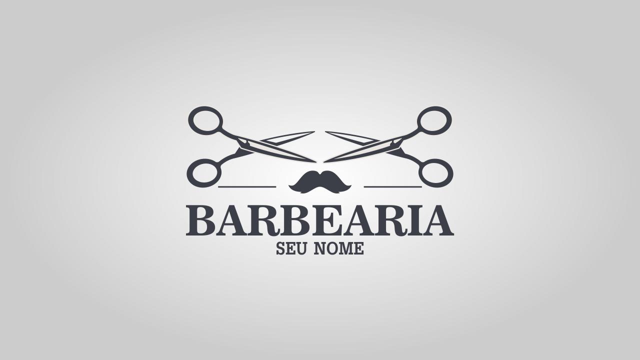 Esse logotipo de barbearia é rústico, mais arrojado, um pouco mais que o  primeiro