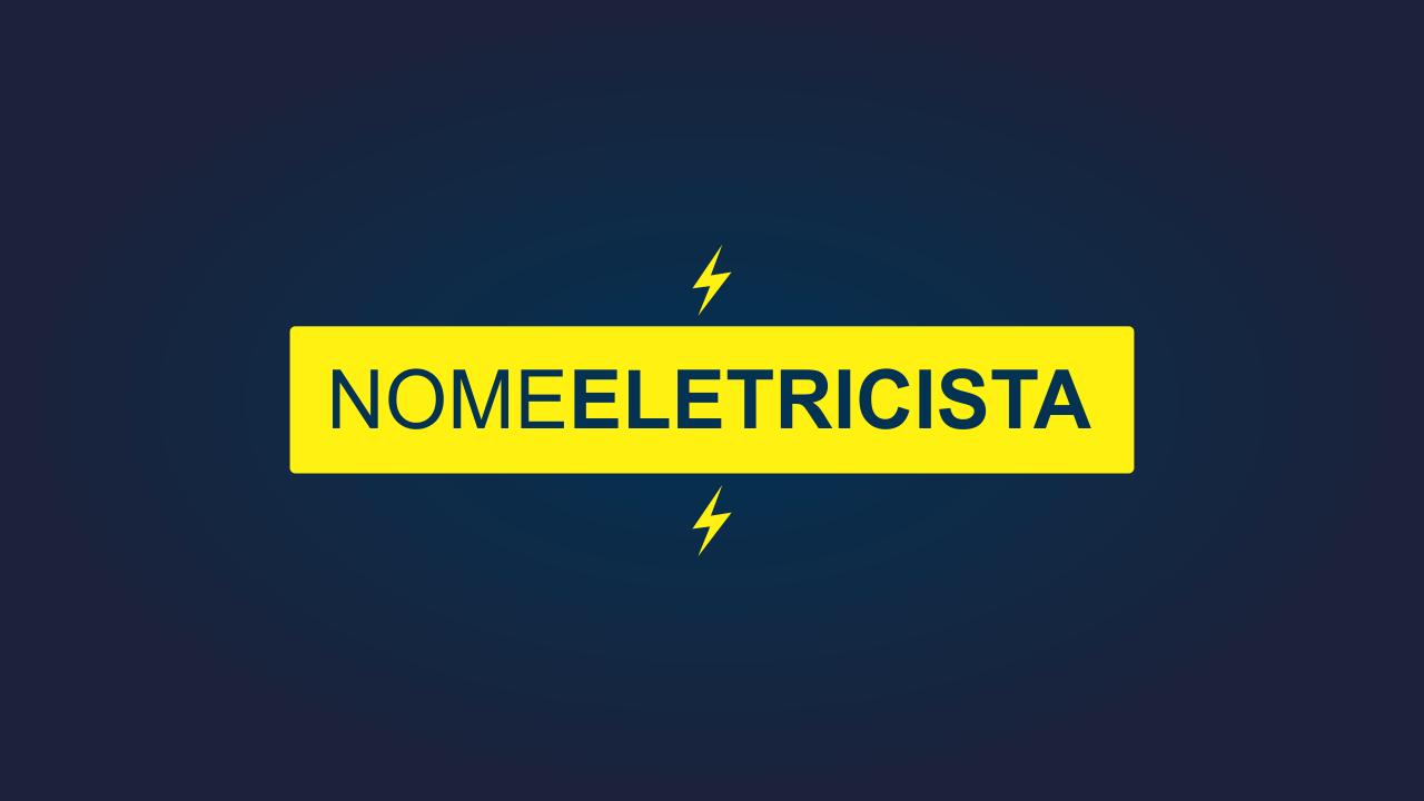 Um eletricista profissional que quer abocanhar o mercado, precisa cada vez mais investir em marketing. Comece com o principal: uma marca. Esse logotipo de eletricista vai representar seus serviços em toda a cidade.