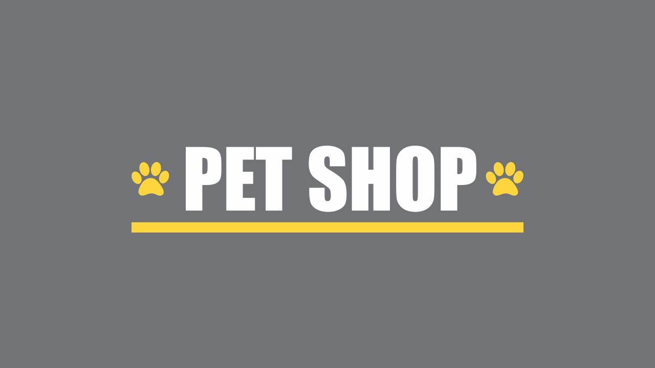 Logotipo pet shop vetor, editável através do Corel Draw.