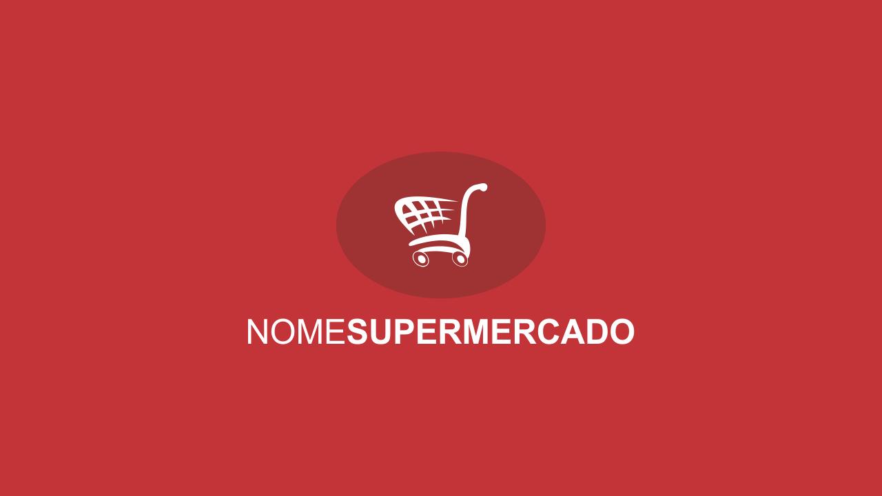 Logotipo de supermercado vetor. Edite-o usando o Corel Draw!