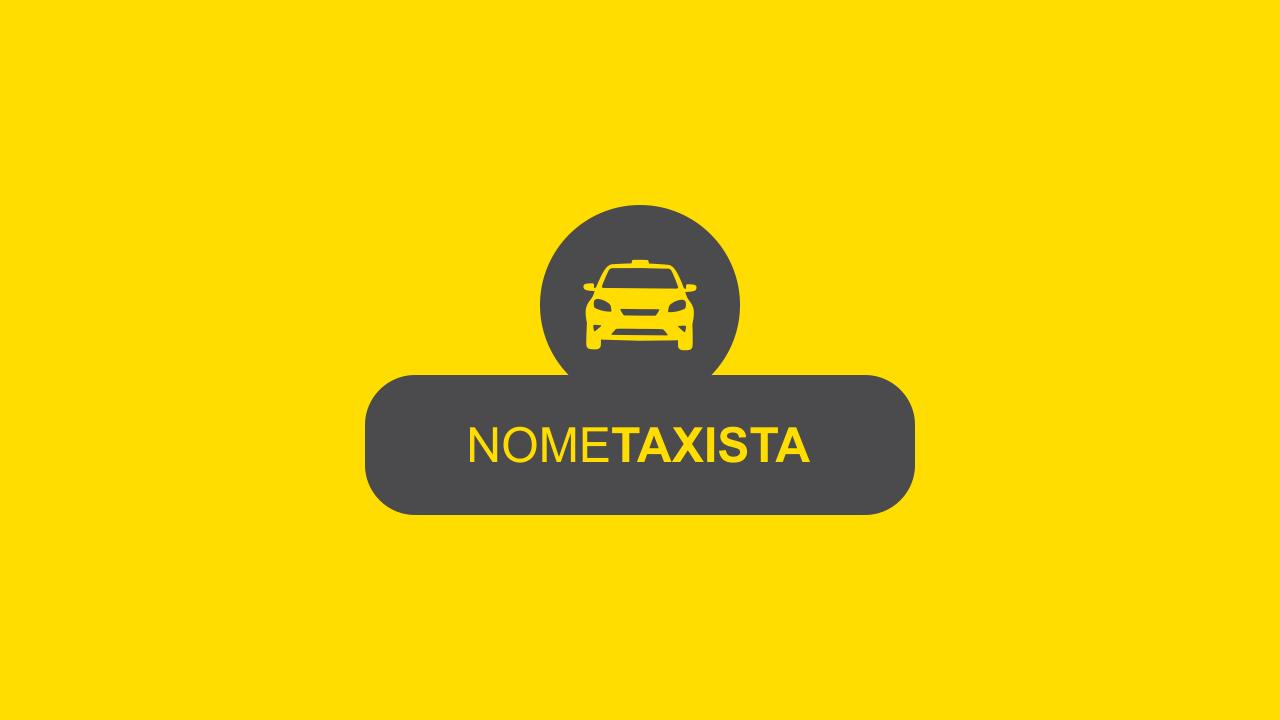 Logotipo táxi bonito, simples e aos mesmo tempo profissional. Esse logotipo de taxista é vetor.