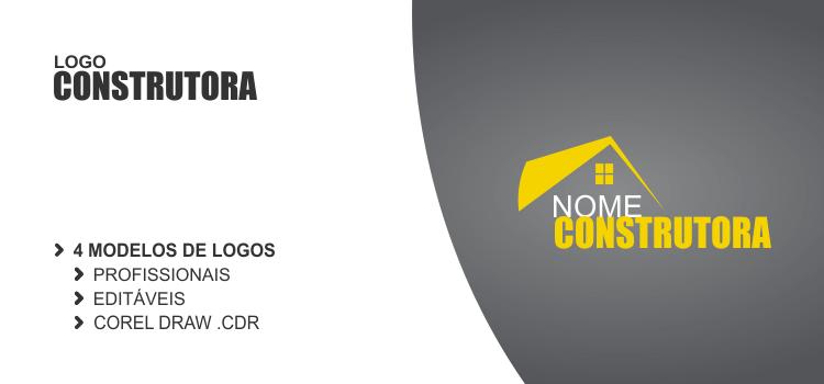 Estamos disponibilizando 4 logos de construtora vetores. Escolha o seu e use-o em seu cartão de visita e panfleto.