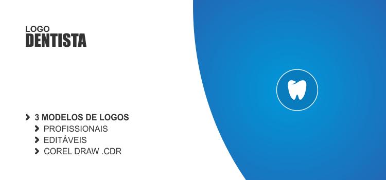 3 modelos de logos para dentistas. Escolha o seu e edite usando o Corel Draw.