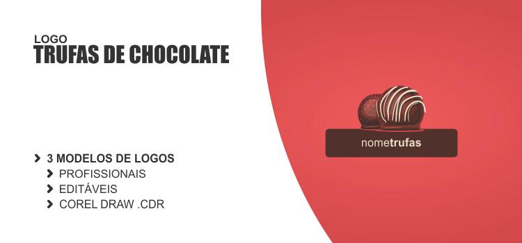 3 logos de trufas de chocolate editáveis e com design profissionais.